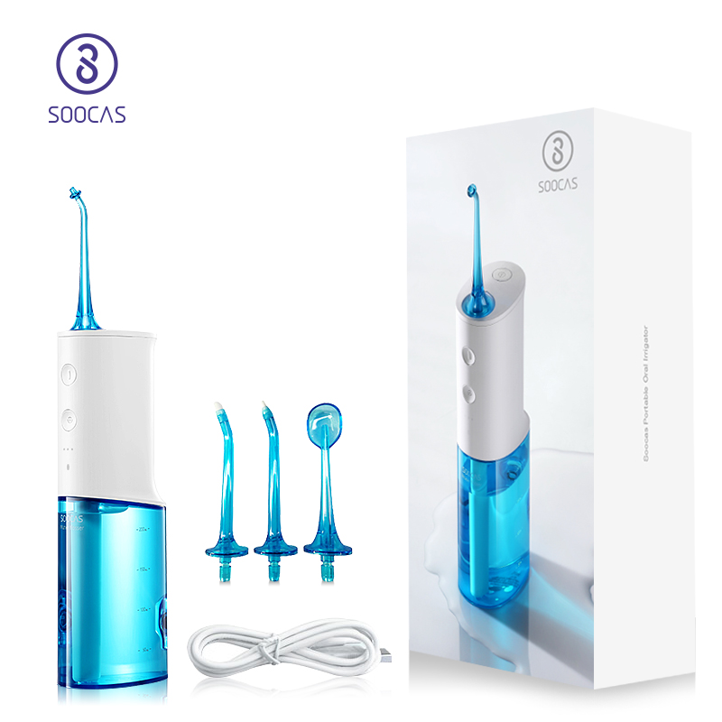 SOOCAS W3 Portable Oral Irrigator Dental Electric Water Flosser Original Jet Nozzle Tips Extra Replacement Tooth
