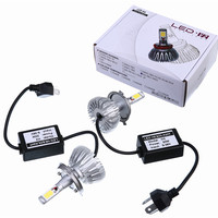 Hot Sale 2Pcs Super Bright H4 Led Bulb 6000Lm Headlights H7 H8 H9 H11 9005 9006