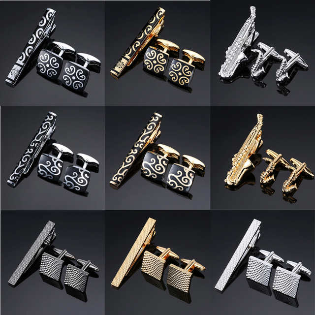 49299fb2f931 Novelty High Quality Cuff links necktie clip for tie pin for men's gift  Hand engraving tie