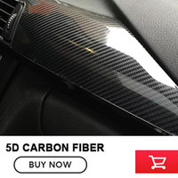 Black 5D Glossy Carbon Fiber Vinyl For Car Trunk Automobile 1 52 20m Black Vinyl