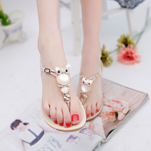 2017 new fashion women sandals rhinestone comfort summer 35-42 women shoes flat sandals