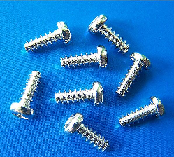 PB1.2 M1.4 1.7 M2 2.3 2.6 <font><b>2.8</b></font> M3 *2 3 4 5 6 7 8 10 <font><b>12mm</b></font> silver or black round head cross phillips Flat tail self-tapping screws image