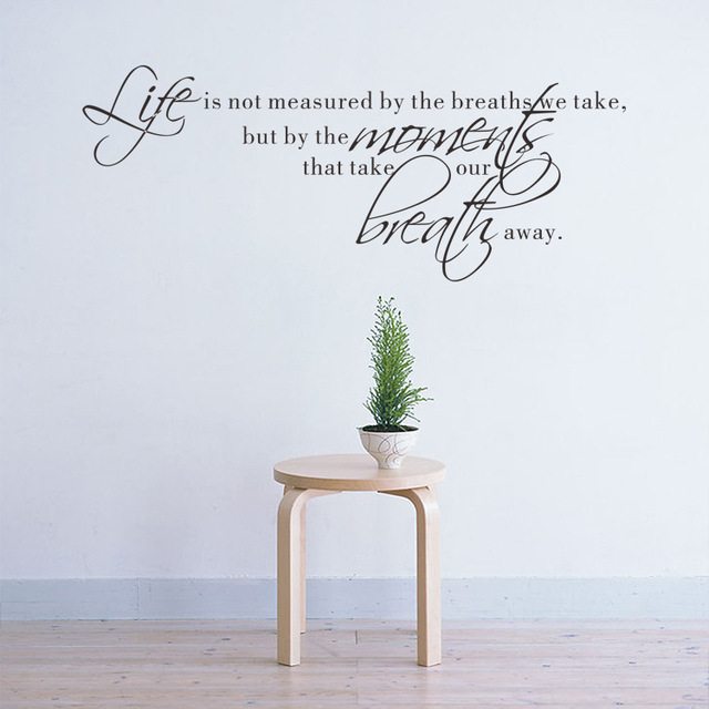 Life Is Not Measured Wall Sticker Quote Letters For Decoration Gorgeous Life Is Not Measured Quote