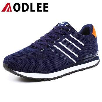 84e61ccd091 AODLEE Flyknit zapatillas de deporte de moda para hombres zapatos casuales  Plus tamaño 45 primavera marca zapatos para hombre zapatos casuales  transpirables ...
