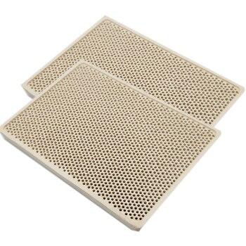 MENSI 3PCS Cordierite Ceramic Burner High Temperature Plate Gas Grill Spare Parts Stove heater Comb 132*92*14mm