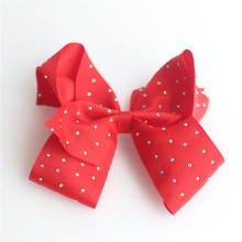 3 pcs Girls pearl crystal dot Bowknot Hair Bow Clip Alligator Hairpins Ribbon Hair accessories(China)