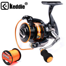 1PC New Aluminum Alloy Fishing Reel Water-Resistant Carbon Drag Spinning Reel Bigger Spool Max Drag 20KG for Sea Fishing Wheel