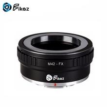 Fikaz M42-FX Camera Lens Mount Adapter Ring For M42 42mm Screw to Fuji Fujifilm FX X-Pro1 X-E1 X-M1 X-A1 X-E2 X-T1 X20 X100T m42 fx m42 lens to fujifilm x pro1 mount adapter black