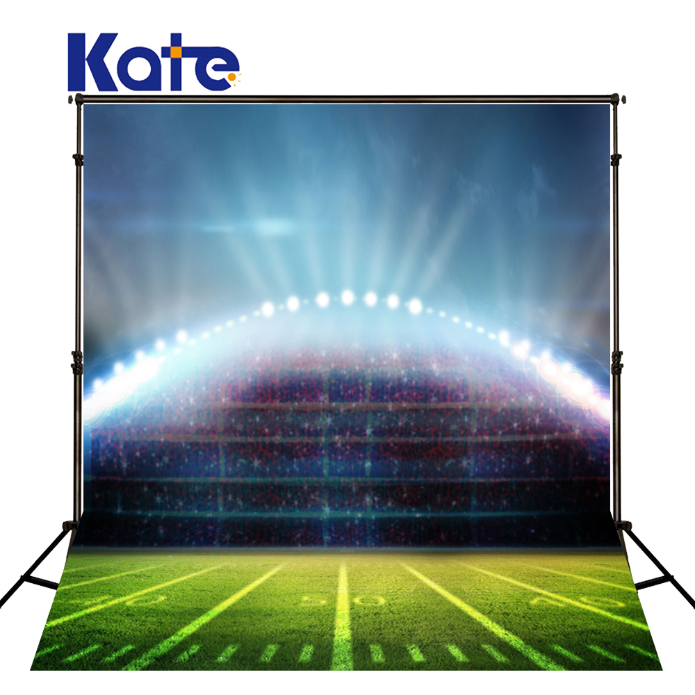 KATE Photo Background Football Field World Cup Backdrops Kids Voetbal Feest Backdrop Light Super Bowl Playground Photo Backdrops world cup in south africa world cup model european soccer cup trophy custom football fans articles
