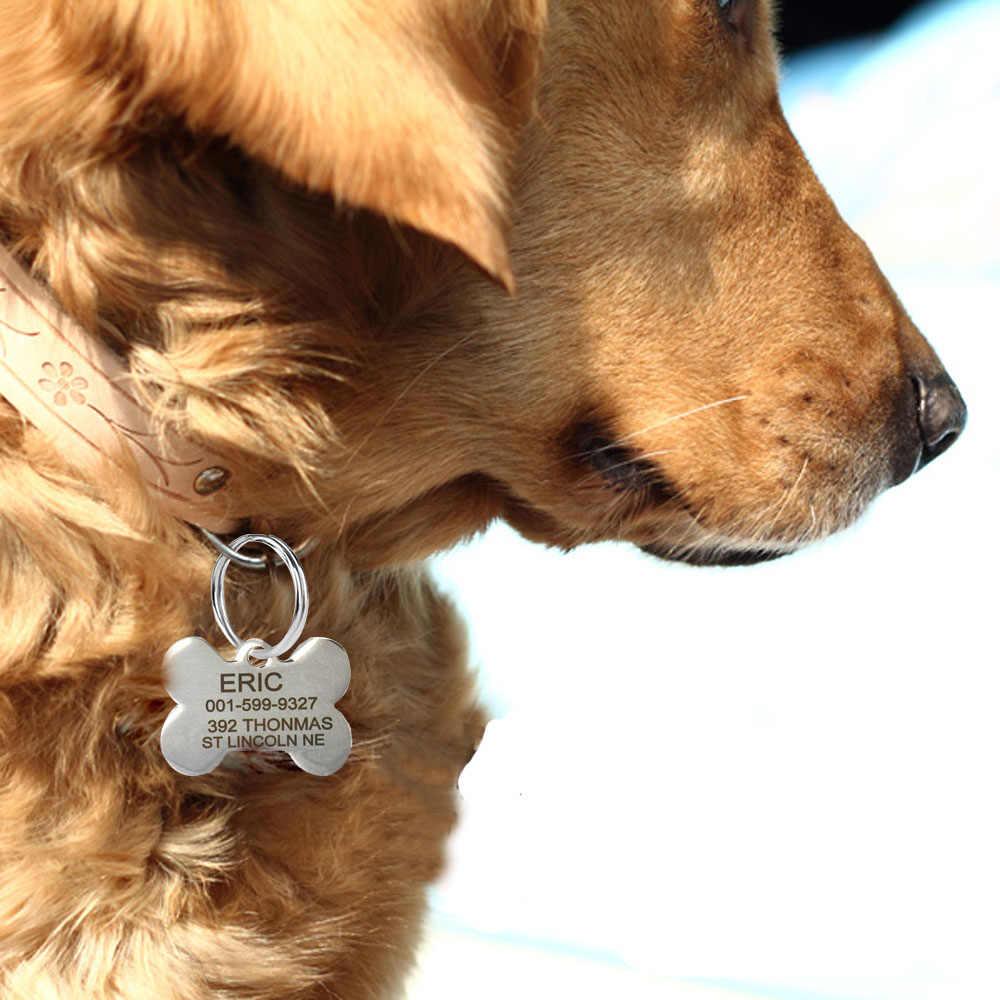 Incisione gratuita di Testo Su Lati Anteriore E Posteriore In Acciaio Inox Pet Dog Tag Personalizzato QR Nome Indirizzo Telefono di Trasporto Giocattoli il fissaggio