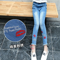 New Jeans For Girls Cotton Casual Children Clothing Denim Spring Baby Kids Clothes Long Length Pants For Girls 6 8 10 12 14 Year