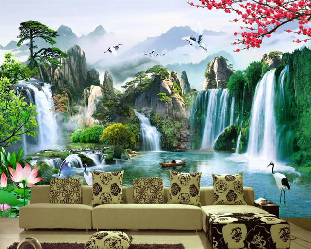 Beibehang definition of high definition natural scenery for Chinese mural wallpaper