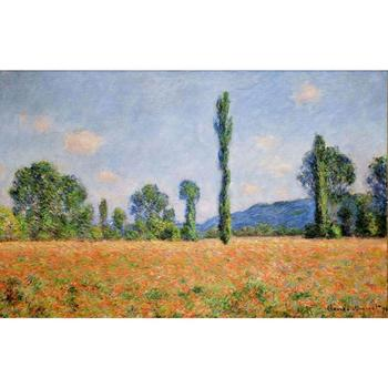 Hand Painted Oil paintings Claude Monet Canvas art Poppy Field in Giverny II High quality home decor