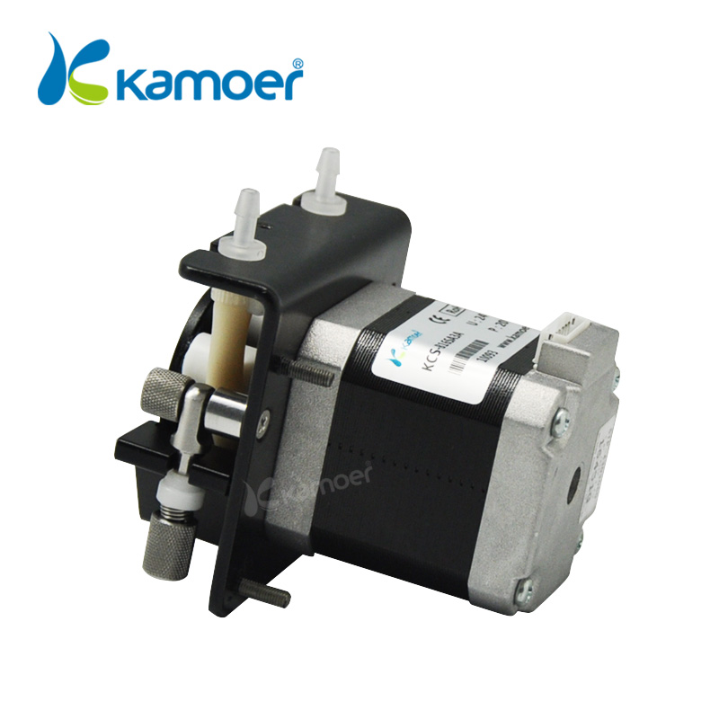 Kamoer KCS small peristaltic pump with stepper motor mini electric water pump 24V with high precision liquid pump kamoer lab uip peristaltic pump high precision and intelligent water pump