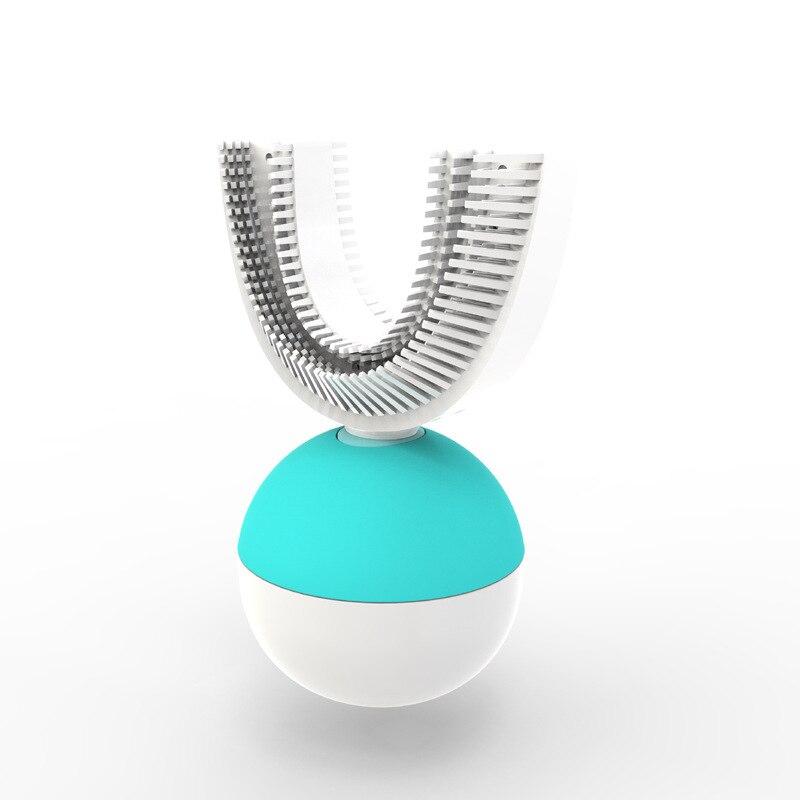 2019 nouveaux produits TV Intelligent automatique onde de son électrique adulte paresseux brosse à dents en forme de U avec brosse à dents sans fil annulaire