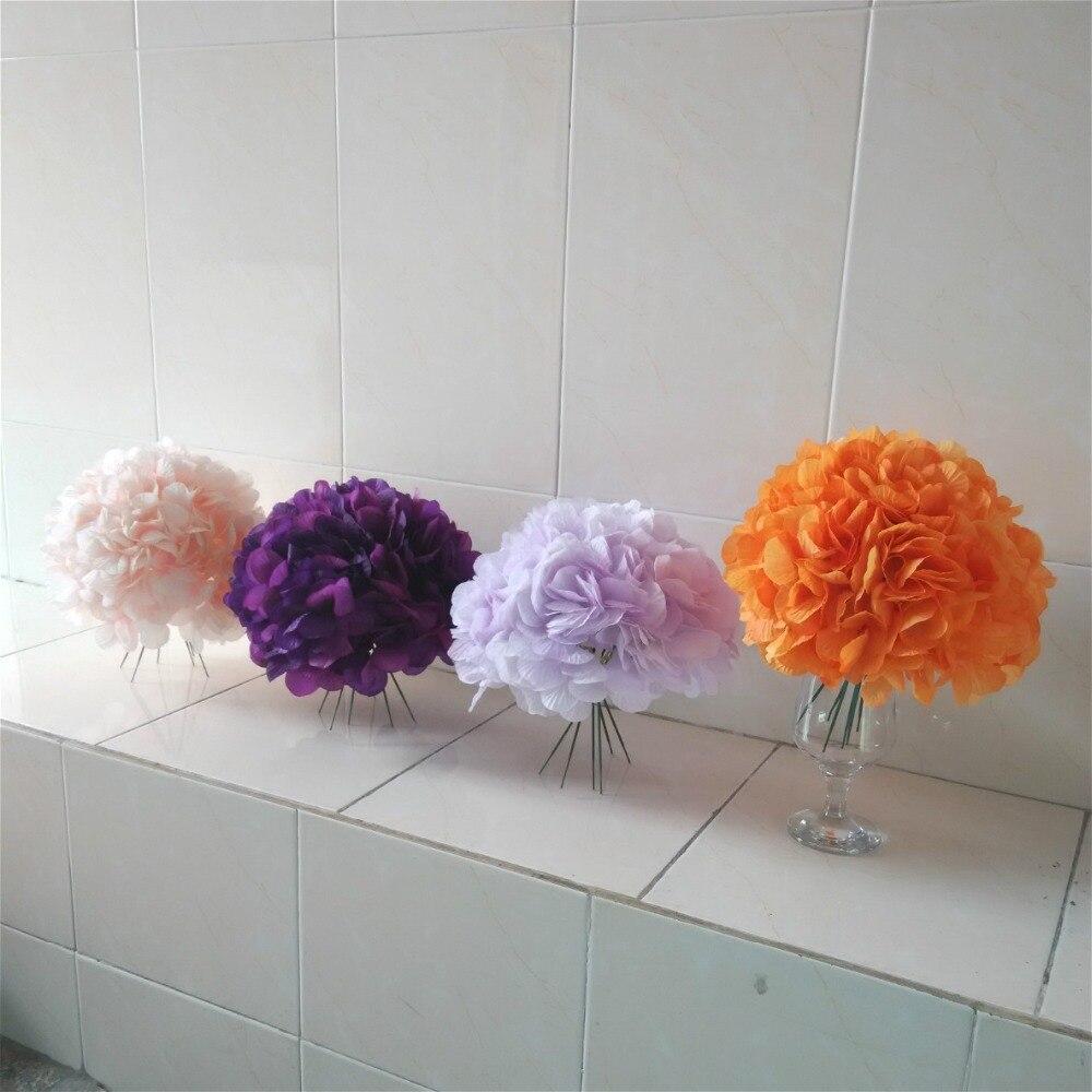 Boule de fleur personnalisée hortensias artificiels bouquets table de mariage décoratif faux arrangement de fleurs