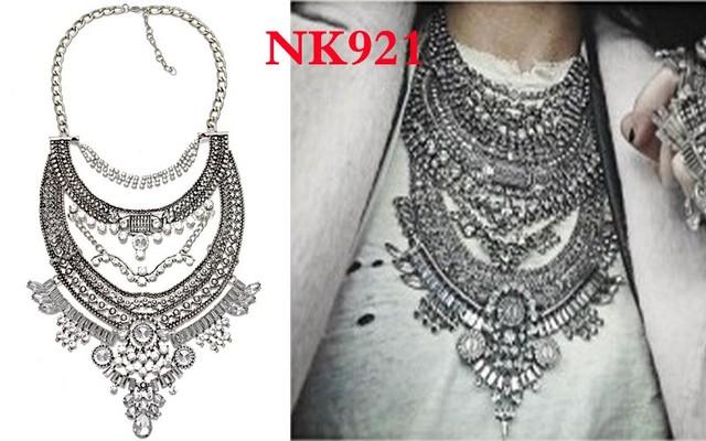 Women High Quality Elegant Vintage Maxi Collar Statement Necklace Pendant Jewelry Set
