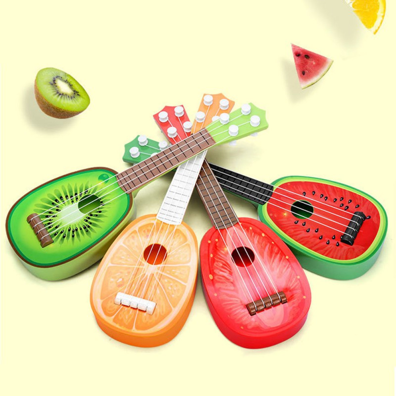 Baby Kids Children Toys Design Children Learn Guitar Ukulele Mini Fruit Can Play Musical Instruments Toys For Baby