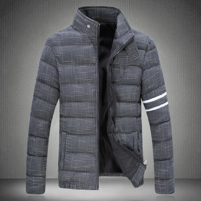 2016 invierno hombres parka Down Jacket Red eléctrica proveedor A090 MY78p105 yardas gruesa capa acolchada masculino marea masculina capa corta secc