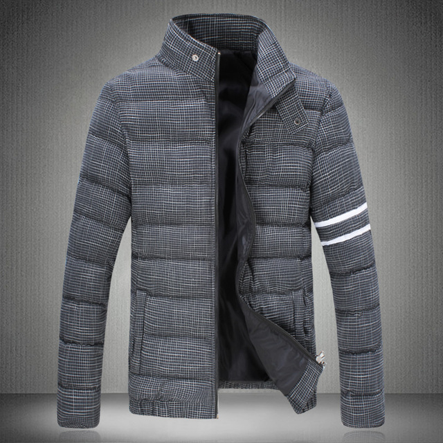 2016 winter parka men Down Jacket Grid electricity supplier A090 MY78p105 yards thick padded coat male tide male coat short sect
