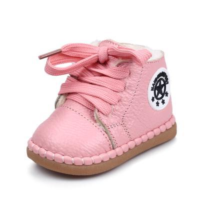 Promotion 10 Colors  2016 New Winter Genuine Baby Girl Boy Shoes First Walkers Boots Toddlers Non-Slip Water-proof Kids Boots
