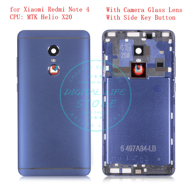 newest 24ce8 d988c US $8.09 10% OFF|for Xiaomi Redmi Note 4 MTK Metal Battery Back Rear Cover  Door Housing Replacement Repair Spare Parts Tested QC-in Mobile Phone ...