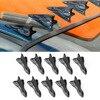 10pcs Shark Fins Kit For Spoiler Roof Wing Windshield Vortex Bumper Diffuser Vortex Generator Car Trim