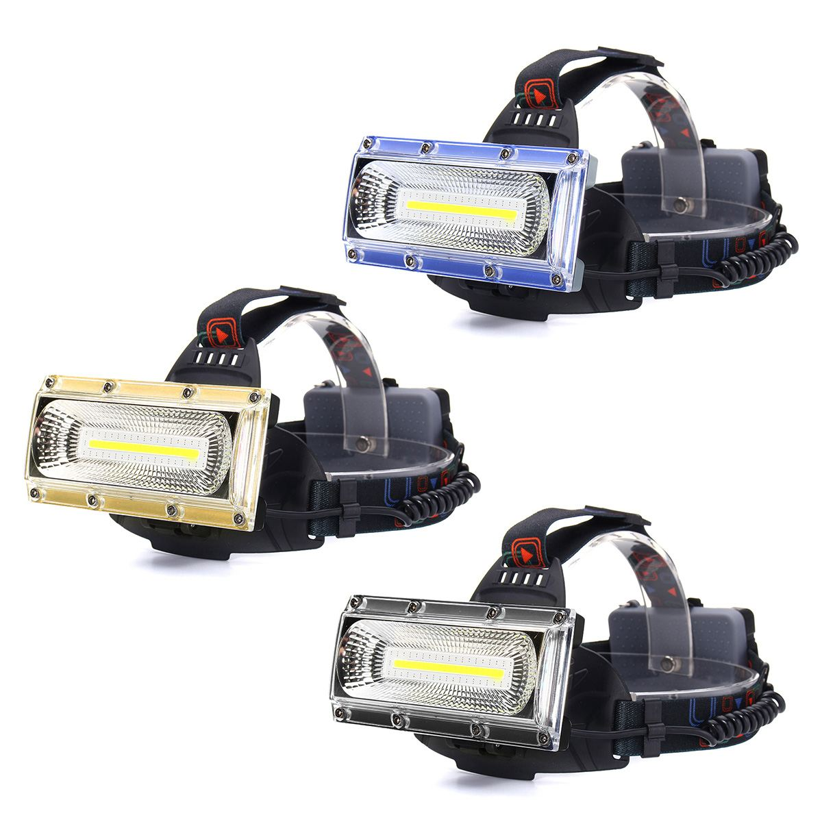 1300LM 30W COB LED Headlamp Three Lighting Modes Adjustable Base for MTB Bike Cycling 18650 Led Lights with Headband Daily Use