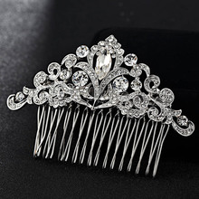 12pcs/lot wholesale Bridal Hair Jewelry Hair Combs Accessories Women Hairpins Tiara Rhinestone Head Jewelry for Bridal Gifts