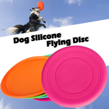Hot Environmental Protection Silica Gel Soft Pet Flying Discs Dog Toys Saucer Big Or Small Dog Toys Pet Shop Diameter 18CM