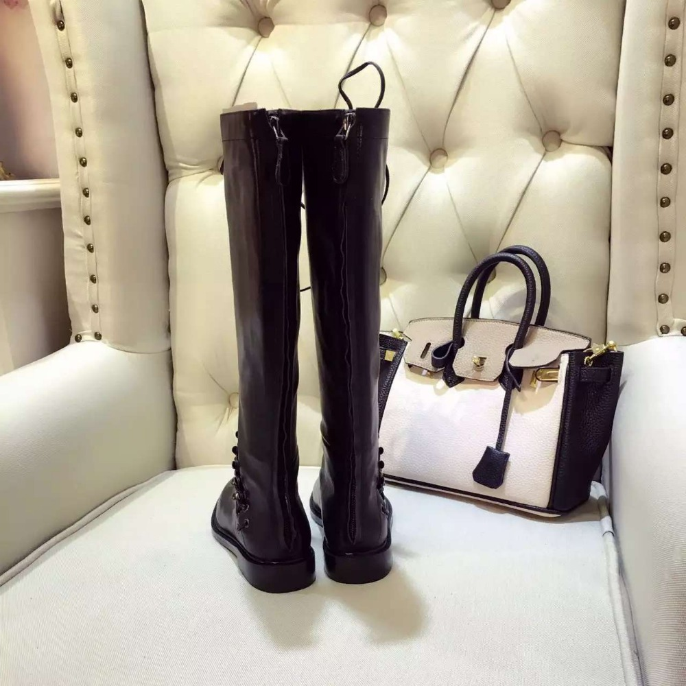 Aliexpress Com Buy New Stylish Women Knee High Boots Nice Round
