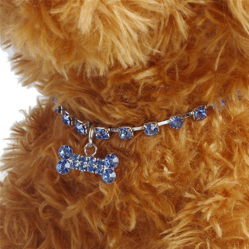 Bling Full Rhinestone Alloy Dog Necklace Collar Pendant for Pet Puppy Small Dogs Cats Party Decor Dress Up Pet Supplies 40JA22 (5)