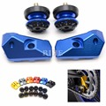 CNC Motorcycle Accessories Rear Axle Spindle Chain Adjuster Blocks & 8mm Swingarm Sliders for Yamaha YZF R3 2015 2016 2017