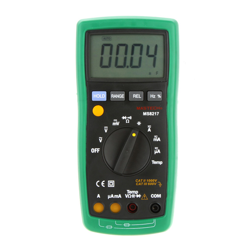 ФОТО MASTECH MS8217 Digital Multimeter Meter AC/DC Voltage AC/DC Current Resistance Capacitance Tester with Temperature Measurement