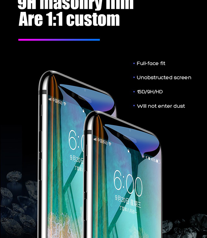 HTB1UWpbbLWG3KVjSZFgq6zTspXaG 15D Protective Tempered Glass On The For iPhone 6 6s 7 8 Plus X 10 Glass Screen Protector Soft Edge Curved For iPhone XR XS MAX