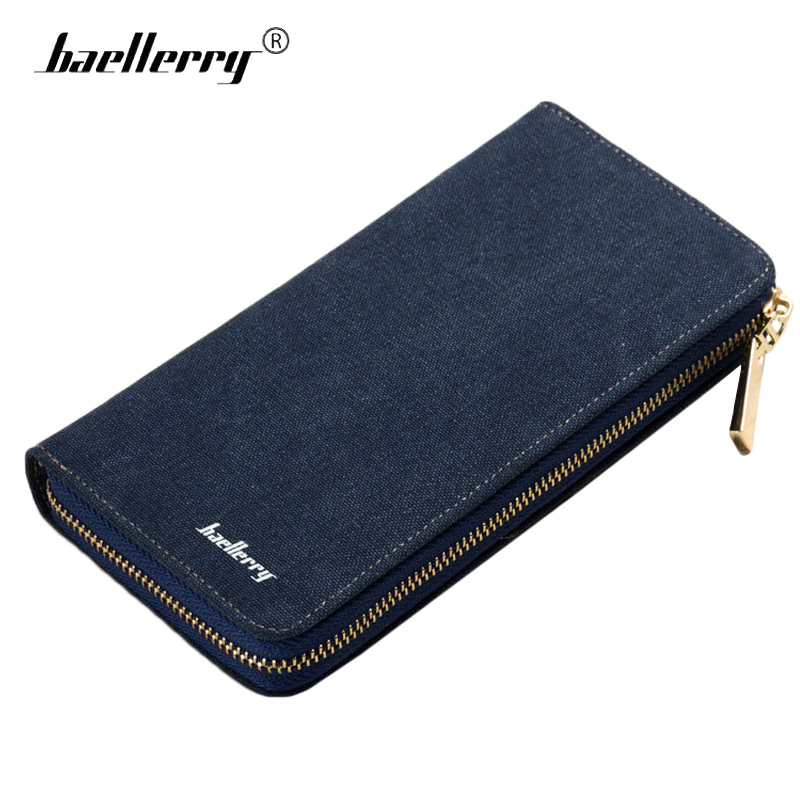 Baellerry Long Zipper Mens Wallet Canvas Coin Purse Casual Fashion Clutch Men Wallets Vintage Money Bag for Money Cards Phone us and european hot selling new high quality vintage men s long money wallet baellerry wholesale purse clutches for man w008