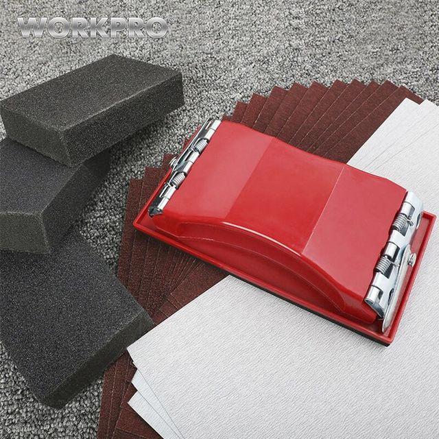 WORKPRO 24 PC נייר זכוכית רב מלטש נייר שוחקים כלים עבור עץ מתכת צבע חול נייר סט