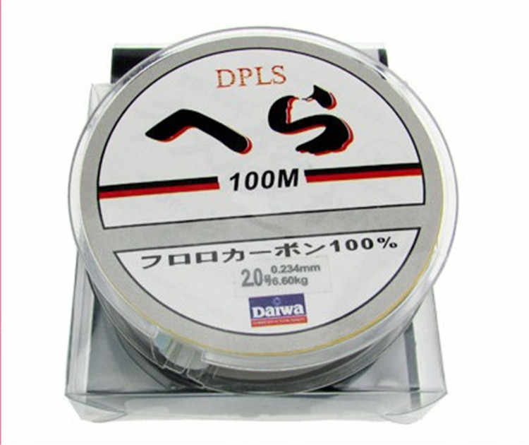 3pcs/lot 100M pesca Fluorocarbon daiwa Brand braided Fishing Line 0.1-8.0mm 1.8-23.7kg Carbon Fiber Leader nylon Lines peche