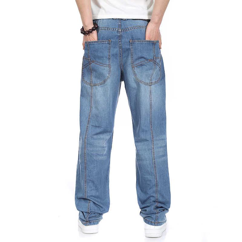 4f5fab6a364 ... Осень на весну и зиму плюс Размеры Для мужчин s мешковатые хип-хоп  джинсы для