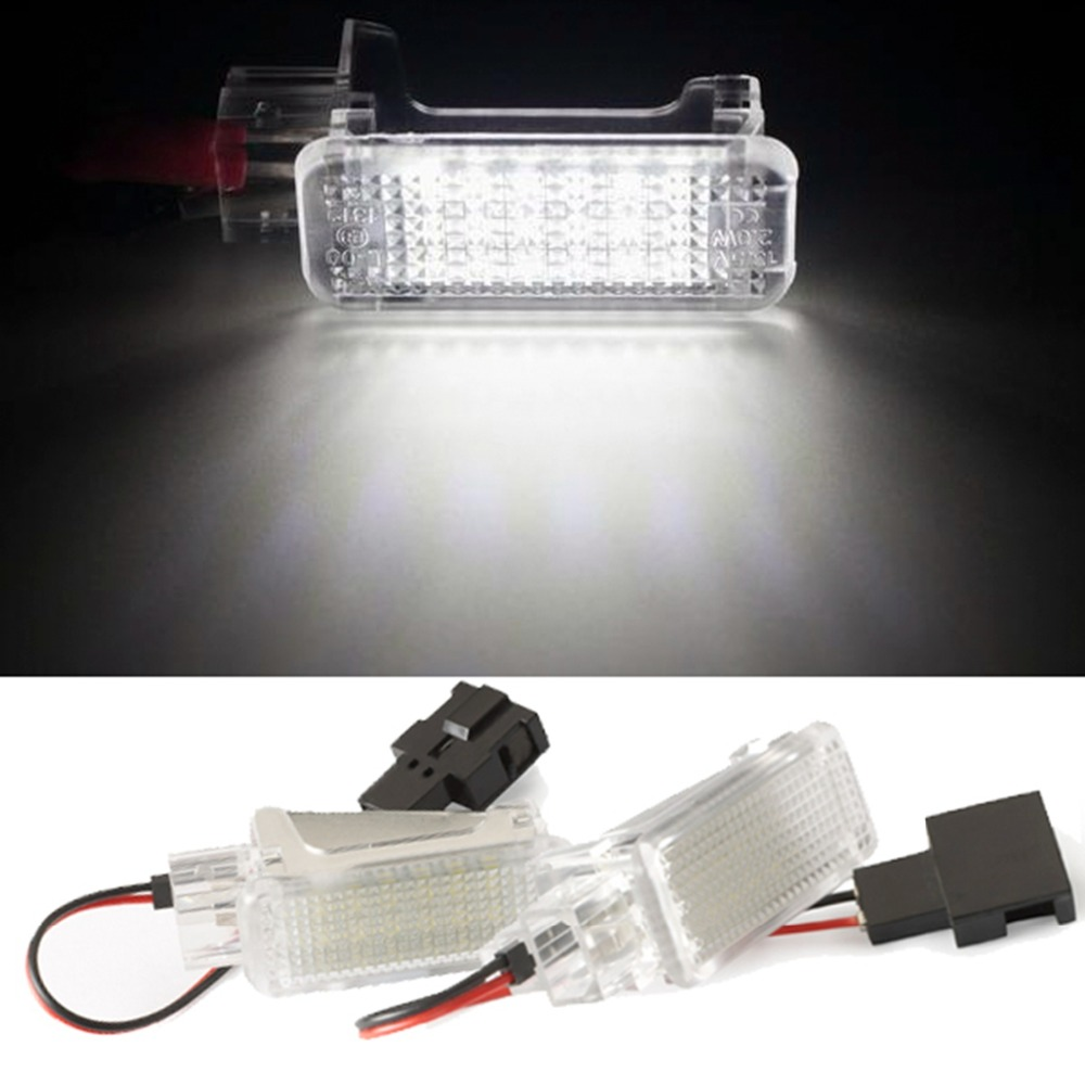 2pcs LED Door Welcome Interior Light Courtesy Lamp Under Door Trunk Light for Audi A2 A3/S3 A4 A5 A6 A8 Q7 Q5 RS4 RS6 R8 3528smd car led welcome under door courtesy light lamp bulb auto courtesy light source for volvo c30 v70 xc70 xc90 s60 s80 v60