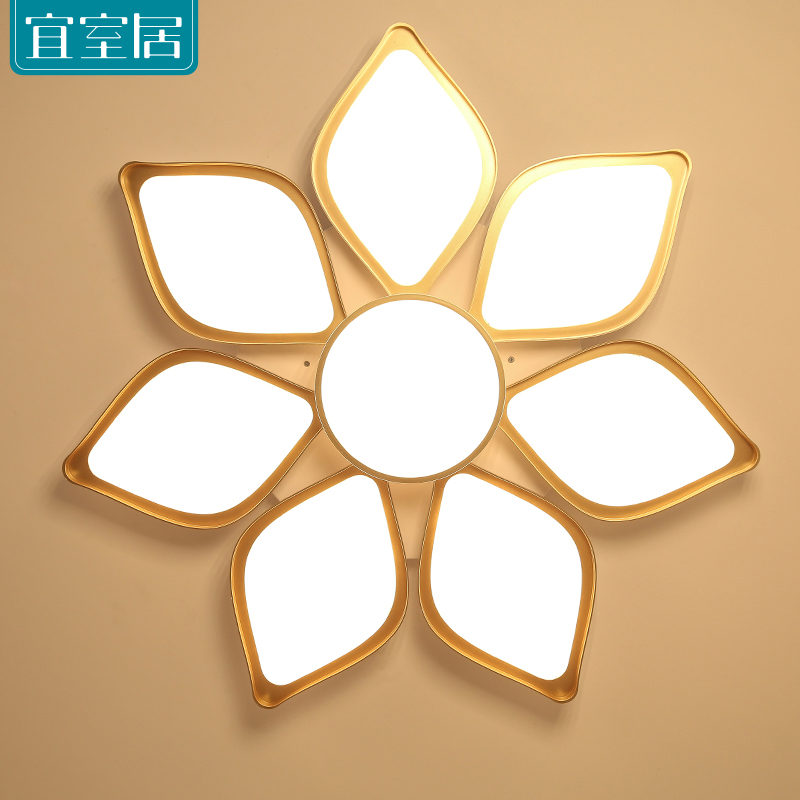 цены  Simple modern flower shape LED ceiling lamp bedroom living room lamp creative study dining hall entrance balcony lighting