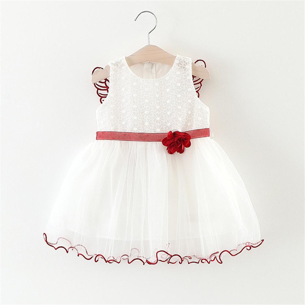 Kids Baby Girls Beautiful Flower Dress Princess Summer Sleeveless Mini Tutu Dress Toddler baby Girls Clothes Gown Dress