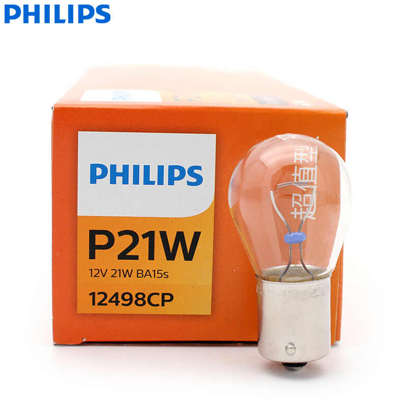 Philips Vision P21W S25 12498CP BA15s Standard Turn Signal Lamps Original Fog Bulbs Reverse Light Wholesale 10pcs