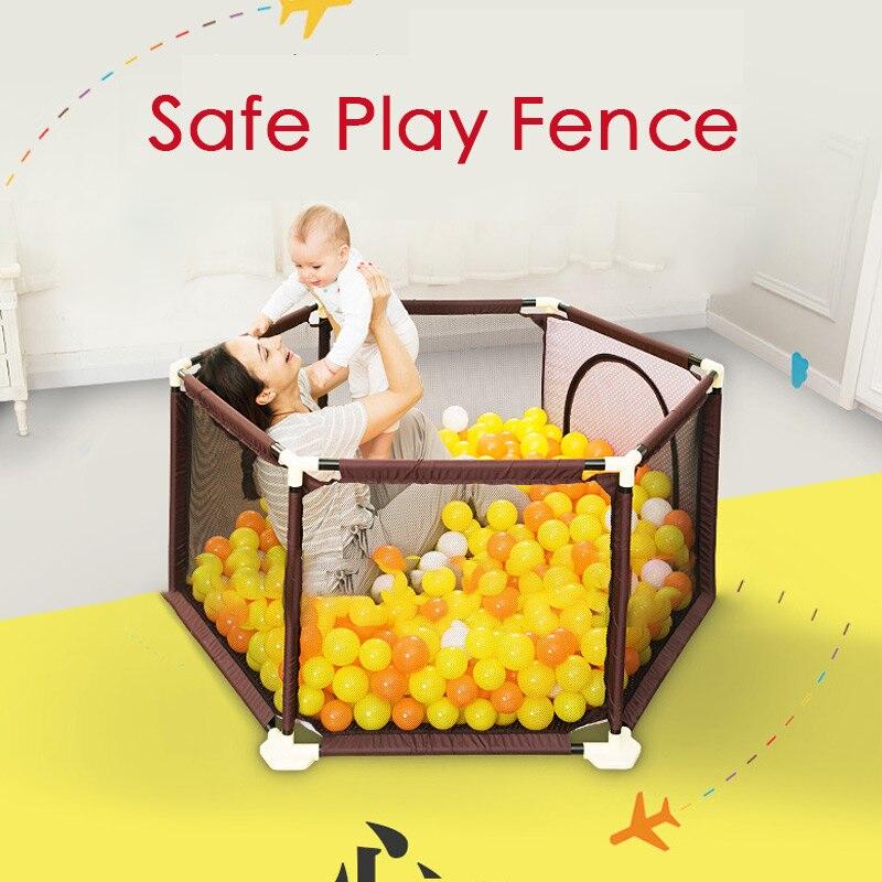 Parc bébé Clôture Bébé Escalade Jouer Clôture Enfant Intérieur Sécurité Jouer Piscine Enfant Protection Clôture 0 ~ 5 Ans