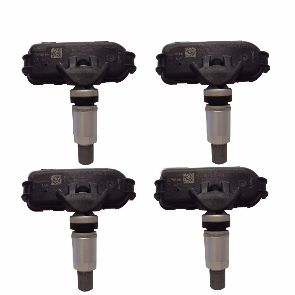 52933 3x205 tpms sensor set 4 for 2014 2021 hyundai elantra kia forte