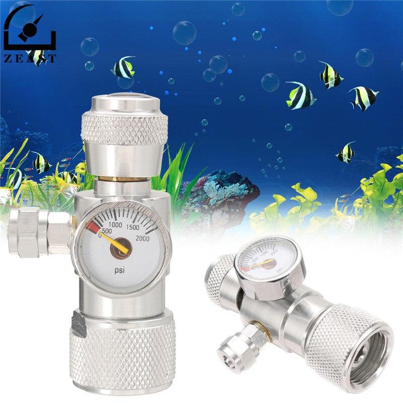 Regulador Manômetro Medidor de Pressão JIS m22-14 Co2 Sobre 1500PSI Redutor de Válvula de Cilindro Planta Musgo Aquário Único Indicador