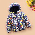 90% white duck down Girls boys winter coats and jackets warm children outwear clothes hooded size 8  9 150 cm