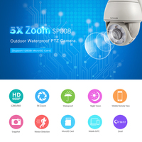 Sricam 720P HD H 264 Dome IP Camera ONVIF Support DVR NVR Micro SD Card CCTV