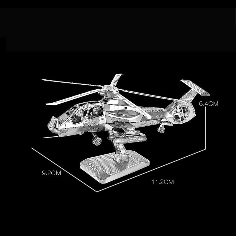 Nanyuan 3D Metal Puzzle RAH-66 Stealth ვერტმფრენი - ფაზლები - ფოტო 2
