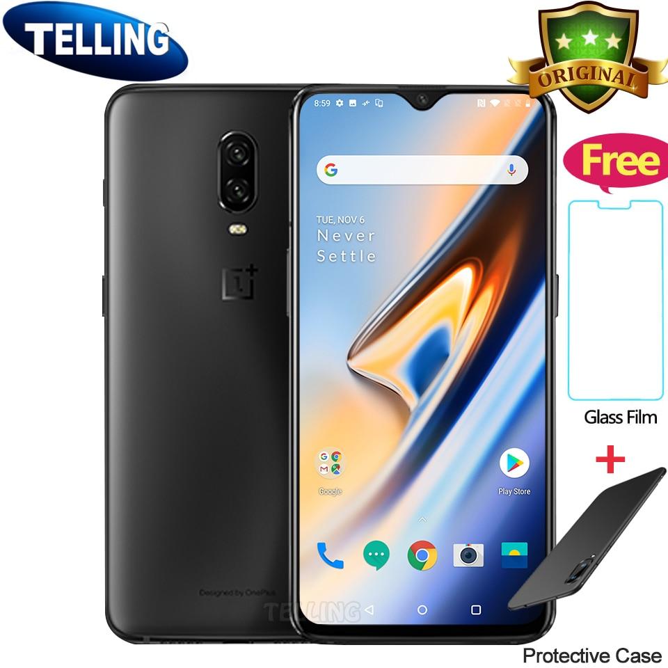 $30 Gifts Global Oneplus 6T Mobile Phone Oxygen OS 4G LTE Snapdragon 845 Octa Core AMOLED Screen Fingerprint NFC OTA Oneplus 6T